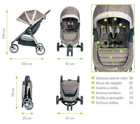 Dimensiones silla city mini 3